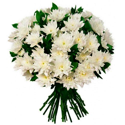 Special Royal Bunch of White Chrysanthemum Flower
