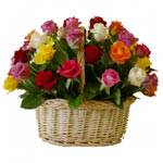 Sensational Basket of 50 Mixed Roses