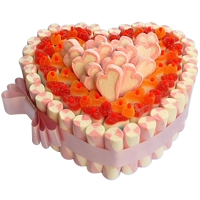 Lip-Smacking Heart-Shaped Cake