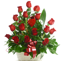 Enchanting Red Roses Love Bouquet