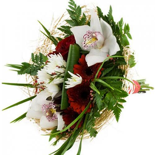 Festive Love Mixed Flowers Bouquet