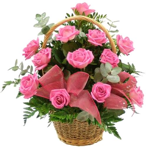 Gorgeous Heart of Love Cart 18 Pink Roses