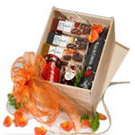 Charming Basket of Gourmet Chocolates and Desserts