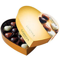 Luxurious Godiva Chocolates Golden Gift Box