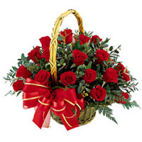 Distinctive 18 Red Roses Basket