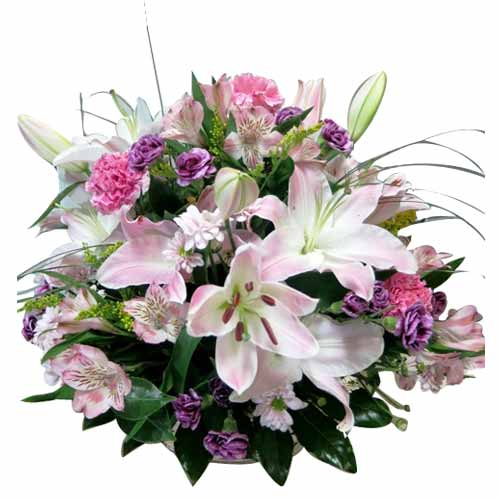 Exquisite Mixed Flower in a Basket