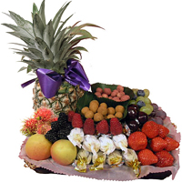 Deluxe Celebrate Happy Holiday with Fruit Cart