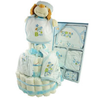 Joyful Greetings with 3 Tier Diapers