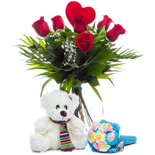 Treasured Blooming Love Gift Pack with Rose Bouquet
