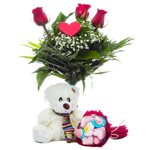 Heavenly Red Roses Bouquet with Other Assortments