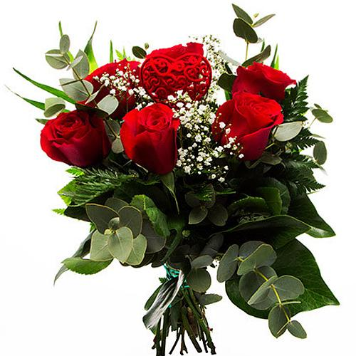Precious Red Heat Red Roses Arrangement