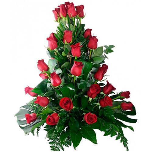 Expressive Timeless Beauty 50 Red Roses Bouquet