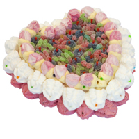 Extraordinary The Best of All Pink Heart Pie Cake (800 gr.)