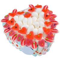 Gratifying Platinum Collection of Heart Shape Pie Cake