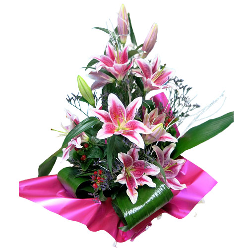 Touching Pure passion Mixed Flowers Bouquet