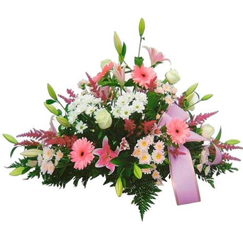 Multicolored Gentle Caresse Flower Bunch