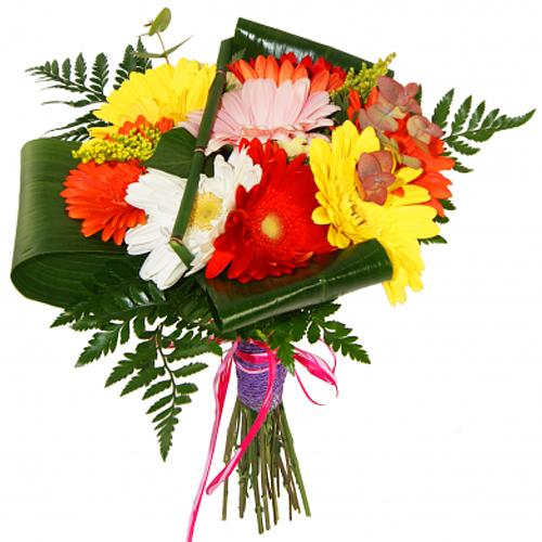 Colorful Bouquet of Mulit-Colored Gerberas