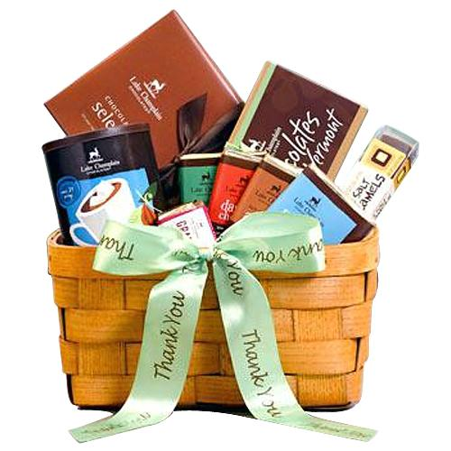 Piquant Pursuit of Happiness Chocolates Gift Basket