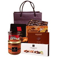 Enticing Story of Success Chocolate Gift Basket