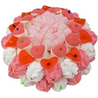 Enticing Candy Hearts Collection Cake Gift (500 gr.)