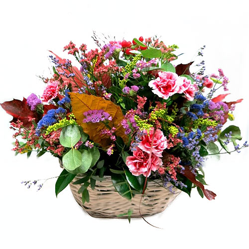 Breathtaking Assortment of Flowers in a Basket