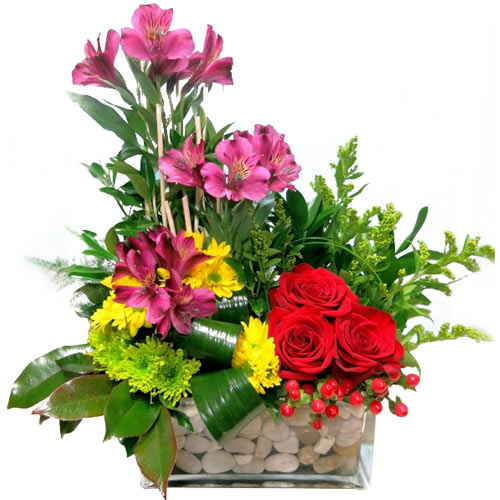 Pristine Bounty of Blessings Varied Flowers Bouquet