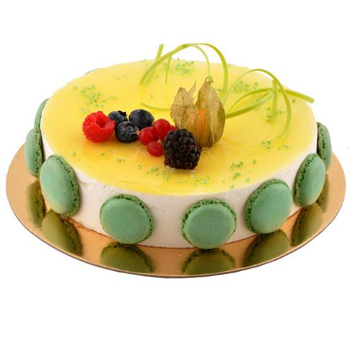 Lip-Smacking Lemon Mousse Cake for Birthday<br>