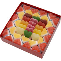 Marvelous Gift of Red Box with Heart-shaped Candies