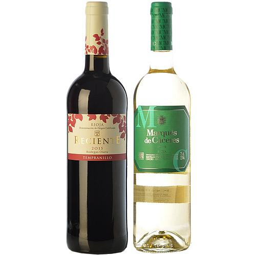 Delightful Collection of 2 Bottles of Red N White Wine<br>