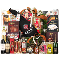 Vibrant Winter Assortments Treat Gift Hamper with Wine