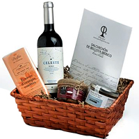 Elegant Christmas Gift Basket of Wine N Chocolates