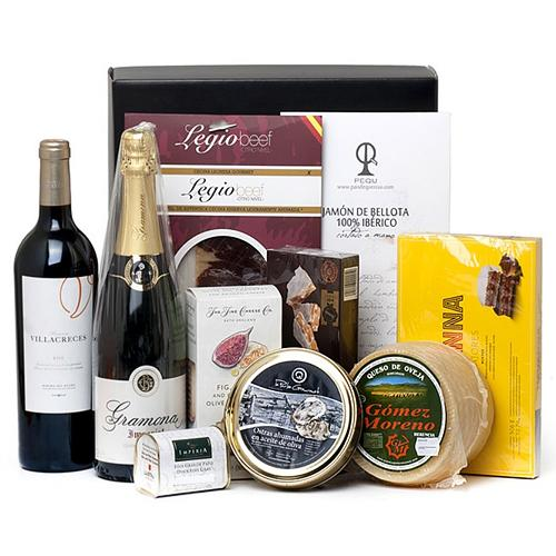 Assorted Gourmet Gift Box for Christmas Greetings