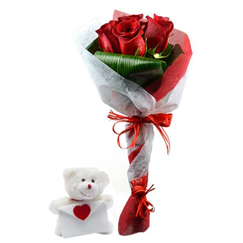 Fragrant Red Roses Bouquet for V-Day