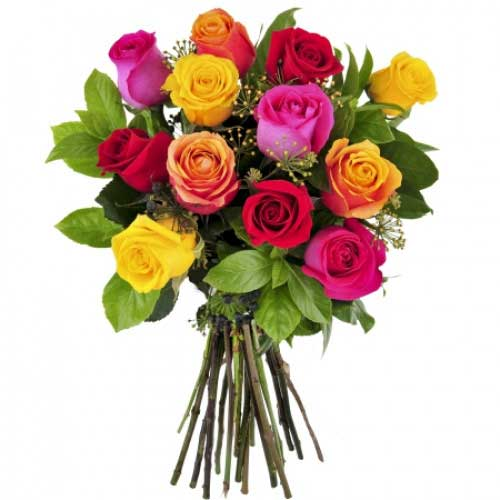 V-Day Sweet Bouquet of Mixed Roses