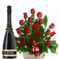 V-Day Passionate Red Roses Basket