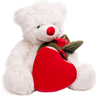 Valentine Treat of Scrumptious Chocolates with Teddy<br><br>